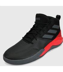 tenis basketball negro-rojo-gris adidas performance ownthegame