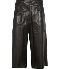 arma long leather shorts