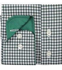 sleeve7 overhemd donkergroen pdp ruit monti