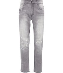 calça masculina skinny halsat - cinza