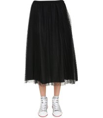 red valentino plissè skirt