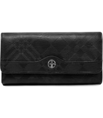 giani bernini embossed plaid receipt wallet, created for macy's