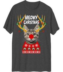 hybrid men's meowy christmas short sleeve t-shirt