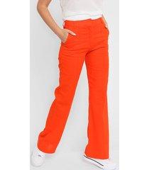 pantalón naranja liguria lino