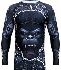 camiseta rash guard gorilla spartanus fightwear