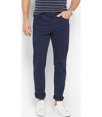 mk pantalone slim-fit cinque tasche in twill di cotone - notte (blu) - michael kors
