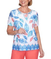 alfred dunner petite look on the bright side printed top