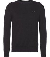 sweater negro calvin klein cotton blend cn embro sweater