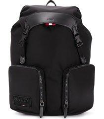 bally rhudi two-pocket backpack - black