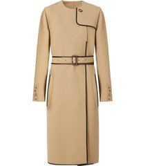 burberry technical style belted dress - neutrals
