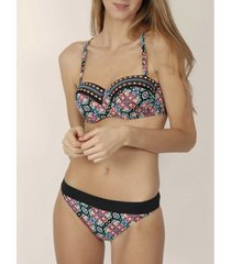 bikini admas 2-delige push-up hoofdband set godin