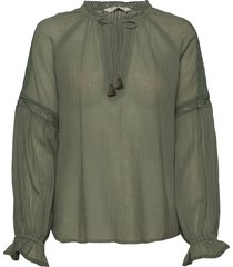 way to go blouse blus långärmad grön odd molly