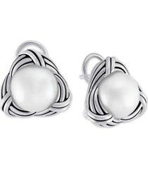 peter thomas roth freshwater pearl (12mm) stud earrings in sterling silver