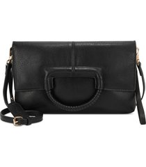 sole society adeli faux leather clutch -