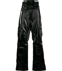 philipp plein coated ski trousers - black
