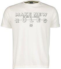 lerros t-shirt - regular fit - wit