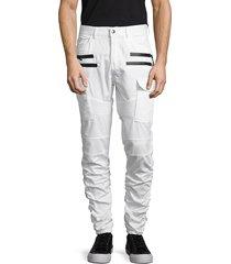 american stitch men's twill cargo pants - white - size l