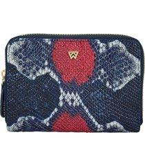women's kelly wynne money maker leather zip wallet - red