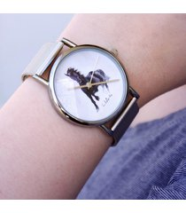 zegarek - czarny koń - metalowy