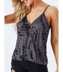 yoins wrap diseño camiseta con cuello en v