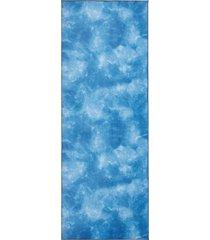 manduka equa yoga mat towel camo navy blue tie dye lightweight microfiber