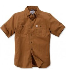 carhartt blouse men lw rigby solid s/s brown-xl