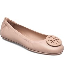 minnie travel ballet with powder coated logo ballerinaskor ballerinas blå tory burch