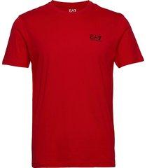 t-shirt t-shirts short-sleeved röd ea7