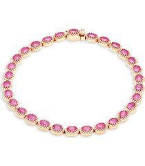 14k rose gold, ruby & diamond bracelet