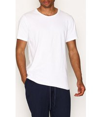 bread & boxers crew neck relaxed t-shirt t-shirts & linnen vit
