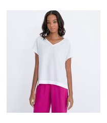 calça clochard lisa com cós largo em camadas   cortelle   rosa   42