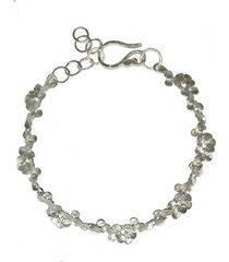 bransoletka z płatków srebrna
