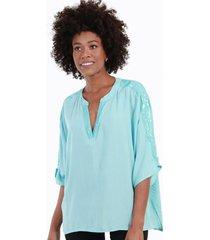 blusa con lentejuelas alicia menta celeste night concept