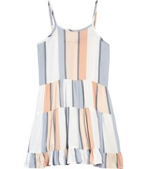 girl's vintage havana kids' stripe tiered dress