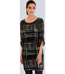 jurk alba moda bruin::groen