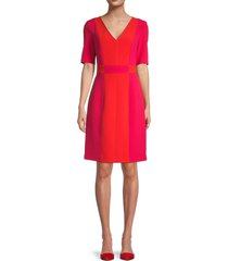 toccin women's colorblock sheath dress - raspberry - size 6