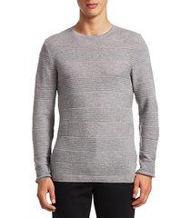 modern textured stripes wool sweater