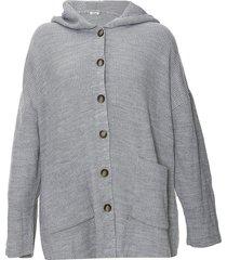 cardigan gris etam capucha plus size