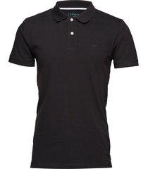 polo shirts polos short-sleeved svart esprit casual