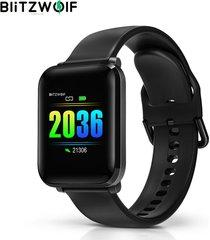 blitzwolf® bw-hl1 1.3 'ips 8 modo deportivo ip68 pantalla multilingüe hr presión arterial o2 15 días reloj inteligente en espera - negro