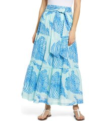 women's vineyard vines palm frond tiered cotton maxi skirt