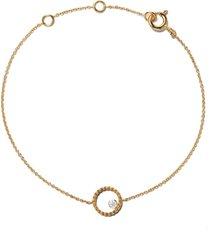 as29 18kt yellow gold mye round beading diamond bracelet