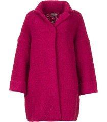 lang gebreid vest maglia  roze