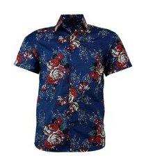 camisa amil alban cor9 de algodão estampada top praia