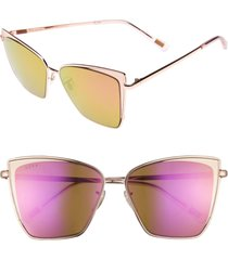 diff becky 57mm sunglasses in rose gold/pink at nordstrom
