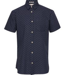 slhslimmatthew shirt ss aop w kortärmad skjorta blå selected homme