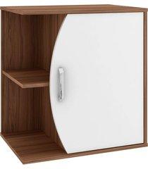gabinete p/ banheiro sem cuba duna 60cm mb bosi marrom - marrom - dafiti