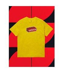camiseta masculina manga curta - amarelo