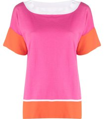 snobby sheep colour-block t-shirt - pink