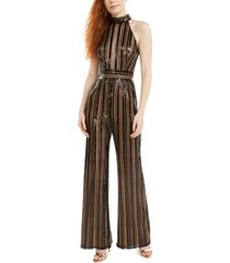 sho sequinned-striped jumpsuit